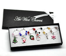 Wholesale HOT!Mixed Christmas Wine Charms Table Decorations 50x25mm-57x25mm
