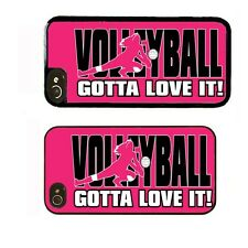 iPHONE 4 4S 5 5S 5C CASE RUBBER COVER VOLLEYBALL