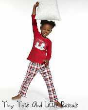 Girls Toddler Kids 100% Cotton Pyjama Set Christmas Gift Sizes 1.5 - 8 years!