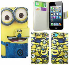 Despicable Me 2 Minion PU Leather Wallet Case Cover For Apple iPod Touch 5 5th
