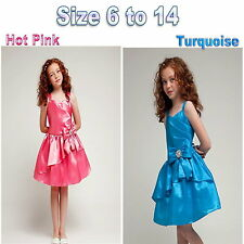 Girls Dress Birthday Party Formal Girls Dress, JR Bridesmaid Dress Size 6 to 14