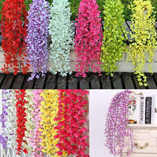 Silk Artificial Flower Vine Leaf Garland Plant Foliage Rattan Home Wedding Decor