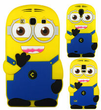 Despicable Me Minion Silicone Case Cover For iPhone 4 5 Samsung Galaxy Ace S3 S4