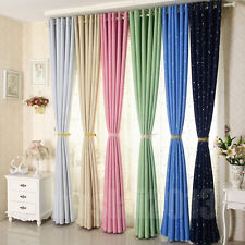 New Colorful Star Textured Blockout Eyelet Curtains Blackout Room Darkening