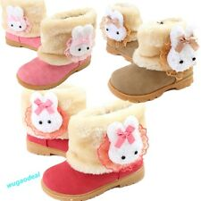 Fashion Baby Girls infant Toddler Winter Fur warm Shoes Snow Boots rabbit