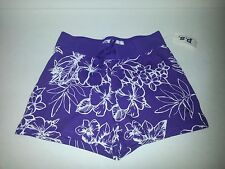 P.S. from Aeropostale Kids Girls Floral Knit Purple Shorty Shorts Size 5, 6, 8