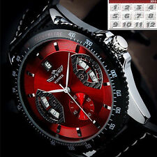 Winner Sport Men's Exquisite Leather Band Date Automatic Mechanical Wrist Watch