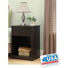 Set of 2 Cherry Nightstand Side End Tables Pair Bedroom Bed Table Room Furniture