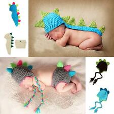 Dinosaur Dragon Newborn Baby Crochet Knit Photography Photo Prop Hat Costume Set