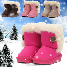 New Winter Warm Baby Kids Boys&Girls Snow Ankle Mid-Calf Faux Fur Fleece Boots