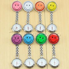 2014 Hanging Fobwatch Smiley Face Pocket Watch Nurse Clip-on Fob Brooch Pendant
