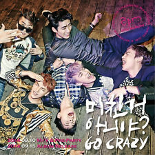 2PM 4th Album [GO CRAZY] Vol.4 : CD with 52p booklet+Poster+Group Mini Photo,New