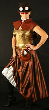 Steampunk-Victorian-Cosplay-Larp-COPPER TAFFETA SKIRT All sizes Sml - Plus