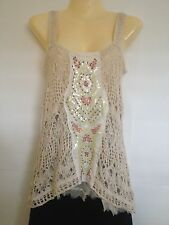 SALE! NEW! Free People Tank Top Tunic Cami in Crochet Lace: Size XS, S, or M