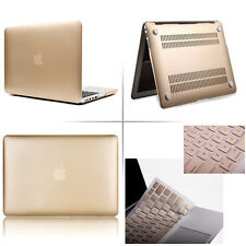 "Gold Matte Rubberized case keyboard cover Macbook Pro Air Retina 11 13 15""inch"