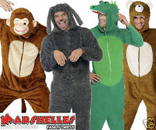 Adults ANIMAL Costume ONESIE Zoo Fancy Dress Ladies Mens Outfit Adult Jumpsuit