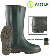 Aigle Parcours 2 ISO Open Wellington Wellies Anti Fatigue Hunting Boots Bronze