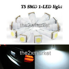 New White LED car light 12V License Plate Light T5 73 79 85 86 2721 SMD 1-LED