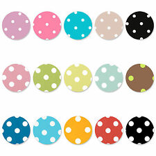 "Round 1.4m / 140cm / 55"" Polka Dot Spot PVC Wipe Clean Vinyl Tablecloth"