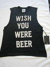 "Unif "" WISH YOU WERE BEER "" Sleeveless T-Shirts UNISEX M, L or XL NEW MSRP$65"