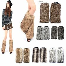 10Colors Soft Fuzzy Fluffy Furry Leg Warmer Faux Mink Fur Boot Cuff Topper Rave