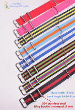 18MM Nylon Watch band straps waterproof watch strap 60color available