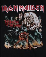 IRON MAIDEN HEAVY METAL BAND The Number of the Beast T-shirt Man Sz M,L