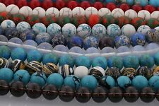 4MM 6MM 8MM 10MM Natural Gemstone Round Loose Spacer Beads Wholesale DIY Jewelry