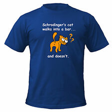 Schrodinger's Cat Walks Into A Bar funny T-shirt Big Bang Theory Geek Science