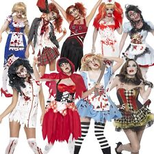 Ladies ZOMBIE Halloween Fancy Dress costume Girls Womans Female party outfit