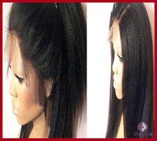 100% Soft Indian Remy Human Hair Malaysia Yaki Yaky Full Lace/ Lace Front Wig
