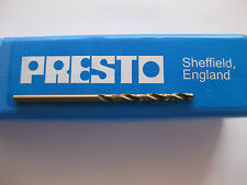 "PRESTO HSS DRILL 2.5mm and 1/8"" SPLIT POINT for stainless hard bronze lathe"
