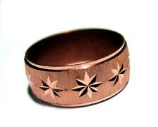 Pure Solid Diamond Cut Copper Ring Arthritis Pain Relief Sports Aches Most Sizes