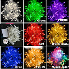 8 Multi-Action 300 LED Xmas Christmas Tree Fairy String Lights Party Wedding UK