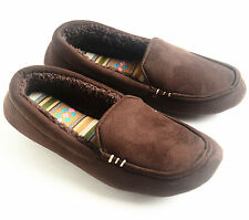 Dearfoams Womens Microsuede Soft Warm Lining Moccasin Slippers Brown Size M L XL