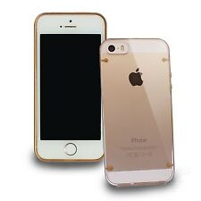 Gold Shockproof Dirt Dust Proof Hard Crystal Clear Cover Case For iPhone 5 5S 5C