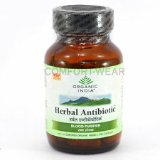 Organic India Herbal Antibiotic Protect Bacterial Viral Infection Cold 60 VCaps