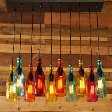 Industial Glass Bottle Pendant Lighting For Bar New Creative Colorful MS202