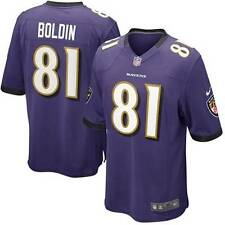 NWT Nike Baltimore Ravens #81 ANQUAN BOLDIN NFL YOUTH Team Color Game Jersey