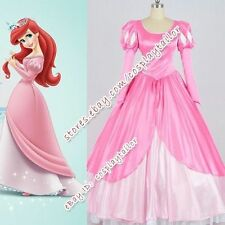The Little Mermaid Cosplay Princess Ariel Costume Pink Dress Party Halloween New