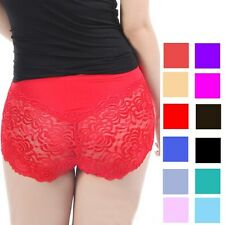 New Women Ladies Sexy French Lace Boxer Shorts Underwear Knickers Short Pants