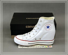 2014 Converse Womens Chuck Taylor All Star Wedge White Black Leather 544927C NIB