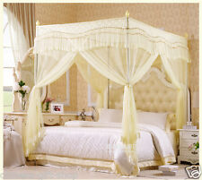 High quality four metal steel frame 4 canopy Mosquito net bed King/queen size