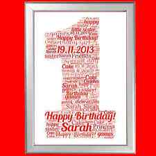 1ST BIRTHDAY WORD ART - FANTASTIC PERSONALISED DECORATIVE GIFT FOR A SPECIAL ONE
