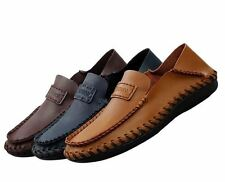 fashion Mens casual slip on loafer Moccasin Driving genuine leather dress Shoes