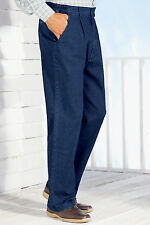 Mens High - Rise Denim Elasticated Stretch Cotton Jean