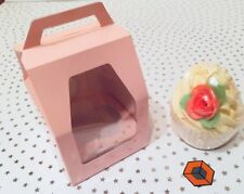 10 x Single Show Cupcake ~ Muffin ~ Fairy Cake Boxes with Window