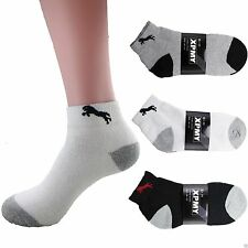 1 Dozen 3 12 Pairs Ankle/Quarter Crew Mens Socks Cotton low cut Size 10-13 Sport