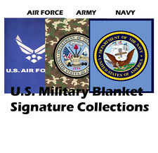 US Military Army/Navy/Air Force Emblem Logo Plush Mink Blanket Queen Size