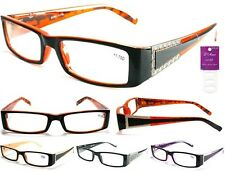 LADIES D'AMOR COLORFUL READING GLASSES READERS W/ METAL ACCENT  + FREE GIFT!